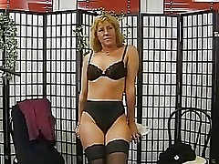 German amateur gets down to her underwear DBM Video
