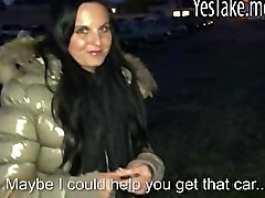 Amateur car dealer Tereza Becker sucks and fucked for cash