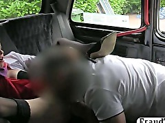 Kinky amateur stewardess enjoying rough sex with a taxi driver