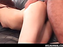 Hot Asian office slut cunt drilled from behind over the desk
