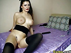 Hot Babe Fuck Her Favorite Dildo HD