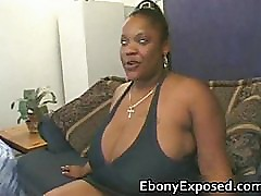 Black girlfriend with giant tits slammed part6