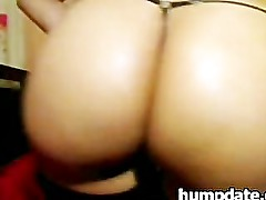 Latin babe with huge booty teasing