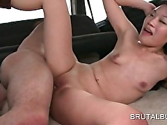 Hot bodied asian sex goddess fucked hardcore in the bus