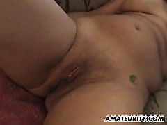 Amateur couple home fucking on the floor