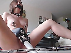 Restrained amateur girl has many orgasms thanks to Hitachi belt