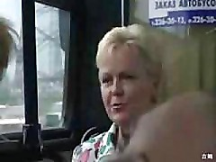 Public indecency on the bus this horny couple doesnt give a shit amateur mature mom mother milf granny outdoors cumshot MadMaxxx