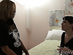 Its Lorenas birthday, so she decides to celebrate by tracking down some sweet piece of fresh female meat and turning the honey out with some first time, pussy licking, clit-rubbing, strap-on-dildo hammering lesbian sex! By the time Lorena finishes with