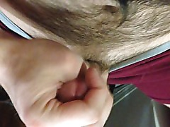huge POV blast of cum after showing off my big cock