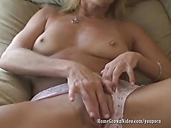 Geting Off With Her Pink Dildo