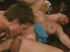 Amateur brunette milf sucking fucking and cumshot in her mouth