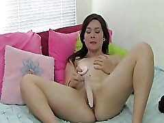 Alluring Amateur Teen Caught Pussy Toying On Bed
