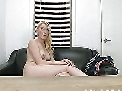 Amateur Couch Fuck for a New Blonde