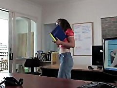 Two aussie amateur ladies strip off in the office