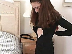 Katrina Strips Masturbates Then Blows A Cock