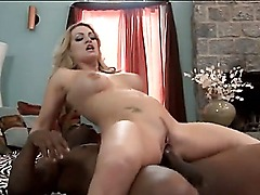 Hello people!!! This is an amazing amateur scene with a horny bitch Aline and her black fucker! She gets his big black cock and sucks it like a crazy bitch! Watch and enjoy.