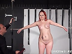 Whipped womans tied nightmare in the dungeon and intense domination
