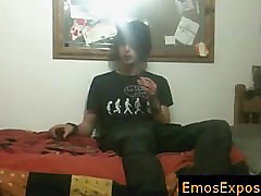 Black hiared and smoking emo getting his hands in his pants By EmosExposed part2