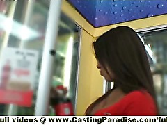 Jynx Maze amateur latina brunette teen flashing and fisting