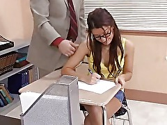 Teacher fucks his hot student in classroom