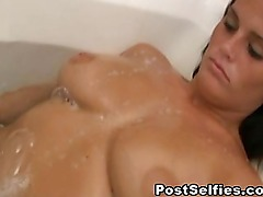 Busty Naked Wife Filmed In Bathroom