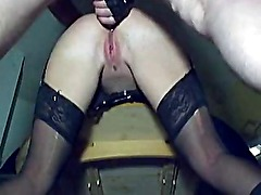 Hot amateur couple in short but sweet anal action 3