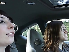 Cheyennes boyfriend suggest filming a private sex film right in the cabin of his car. She agrees and they begin the action with amazingly-looking cock-sucking scene.