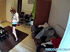 PublicAgent Homemade video with the hotel cleaner