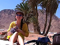 Its dangerous to travel to a foreign land, particularly by your lonesome -- and particularly if youre an attractive female in her early twenties. Which explains this footage.