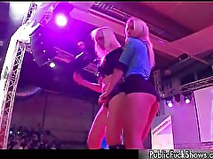 Hot blonde whores get horny stripping part4