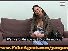 FakeAgent Latino dancer does anal