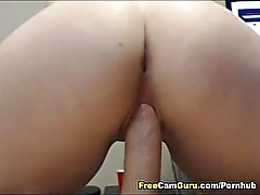 GF Sucks and Gets Fucked by a Big Hard Cock