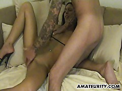 Amateur girlfriend anal with facial cumshot