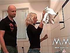 MMV Films German amateur couple sex in the bathroom