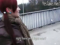 Real amateur redhead Eurobabe Belinda analed and creampied for cash
