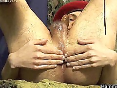 Teen soldier lubing and jerking part6