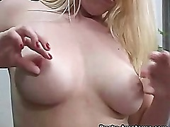 Big Tits Blonde Masturbating On The Couch
