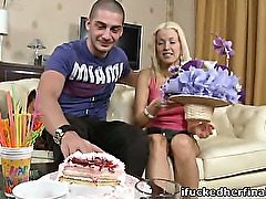 Young blondie loses her virginity on her birthday.