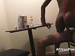 White dude fucks horny african babe Nadia on homemade