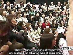 Subtitled CFNM with 100 Japanese amateurs and black man