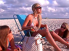Three awesome prepossessing pornstars Mercedes Lynn, Samantha Saint and Trisha Uptown relax on a beach. Take a look and enjoy these gorgeous sluts with a tasty boobies and asses.