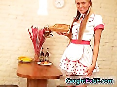 Cuty maid serving pussy exgf video part3