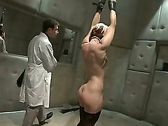 Insane Ash Hollywood gets bdsm violent cure from brutal sadist James Deen!