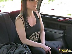 Amateur brunette girl Lucy fucked with stranger dude