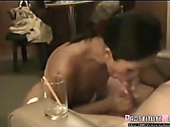 Thai Escort drinks cum in a glass