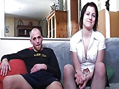 French slut casting babe cuckold
