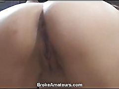 Amateur girl swallows cum and gets a facial
