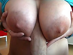 Chubby amateur Kate T sure knows how to suck cocks right and how to massage them with her big natural boobies. Watch her service Rocco Siffredi till he explodes!