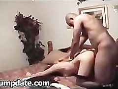 Sexy MILF gets rammed hard by her black date