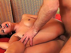 Niya Yu is a flawless Asian beauty. Who knows how this old guy got her to fuck him, but Im sure glad he filmed it. Oh, he eats her pussy, too. Pretty thorough job, I gotta admit.